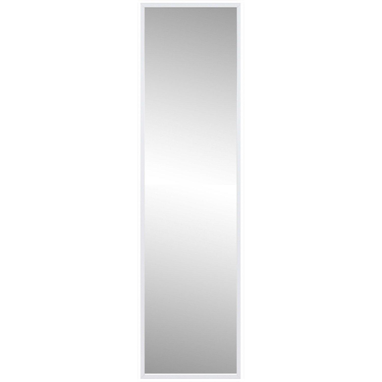 Miroir lario inspire blanc x cm leroy merlin for Miroir autocollant leroy merlin