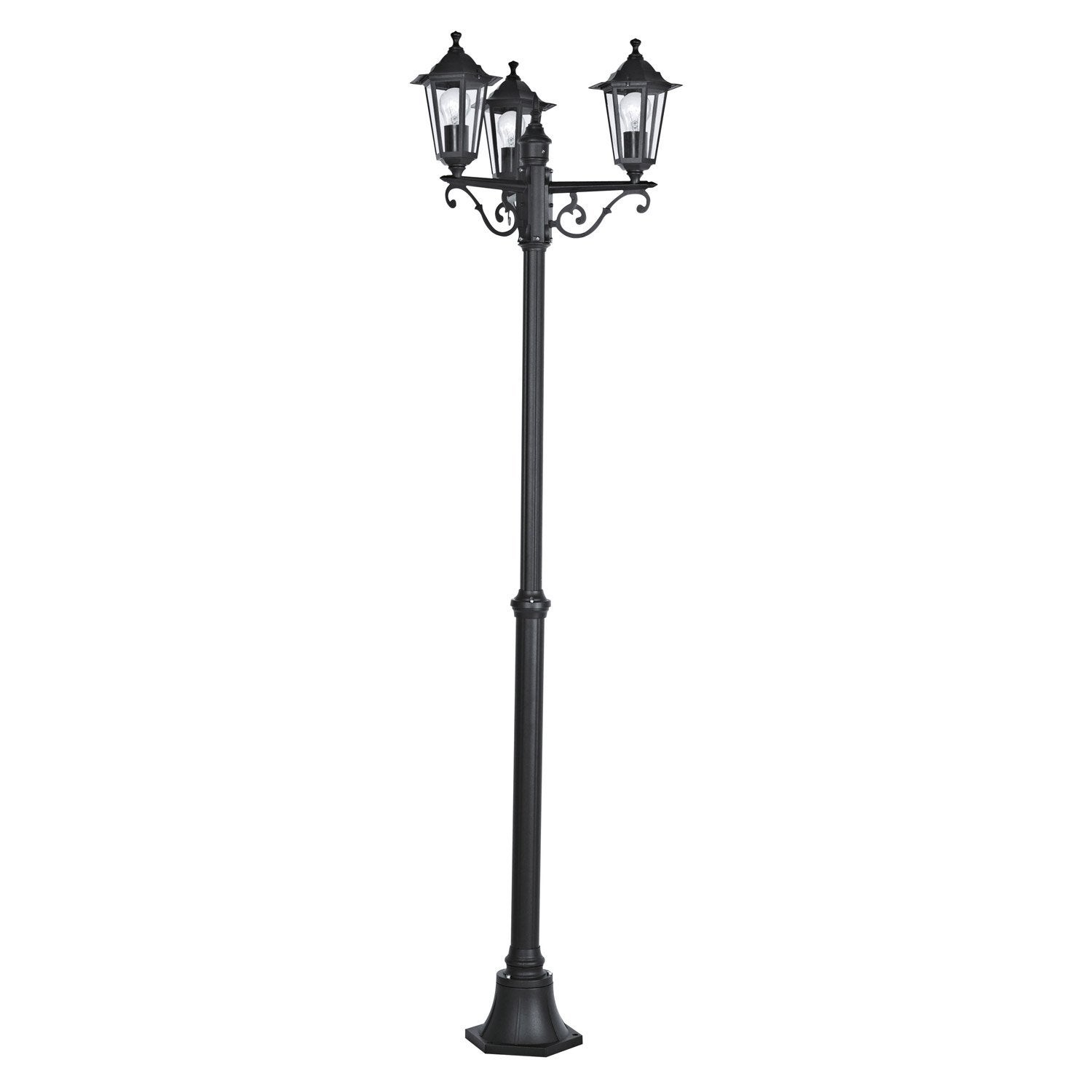 lampadaire ext rieur laterna e27 60 w noir eglo leroy merlin. Black Bedroom Furniture Sets. Home Design Ideas
