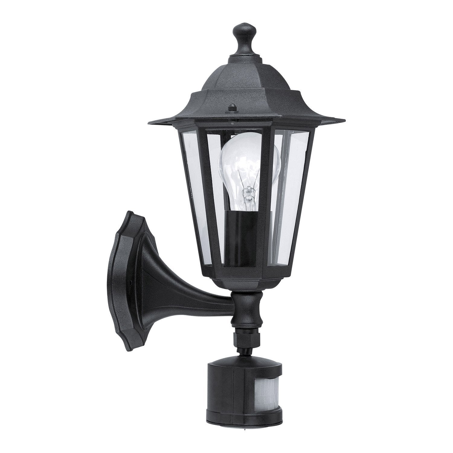 Applique d tection ext rieure laterna e27 60 w noir - Lanterne exterieur leroy merlin ...