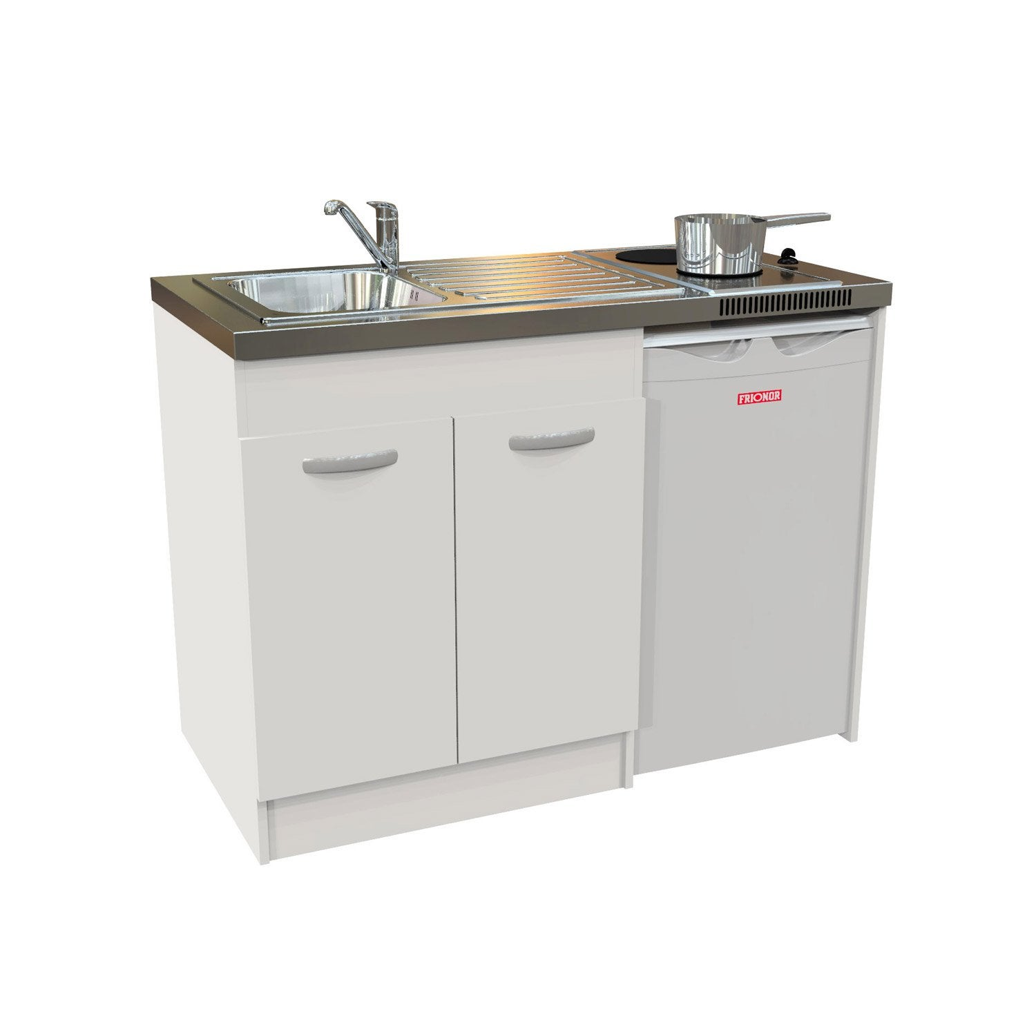 Kitchenette electrique blanc spring x x cm leroy merlin - Kitchenette pour studio ...