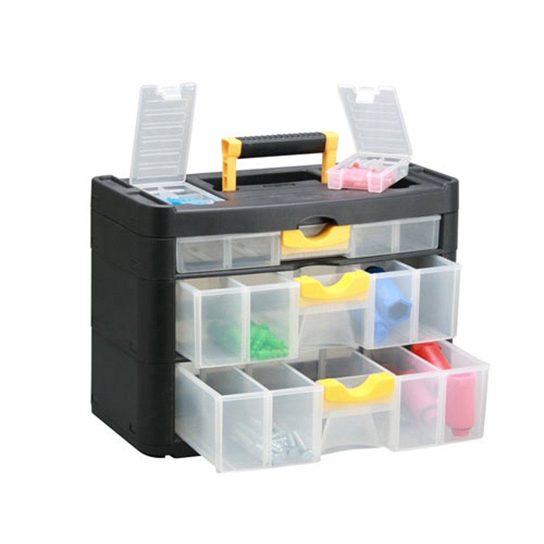 Casier vis en plastique 3 tiroirs haut 28 8 x larg - Casier rangement leroy merlin ...