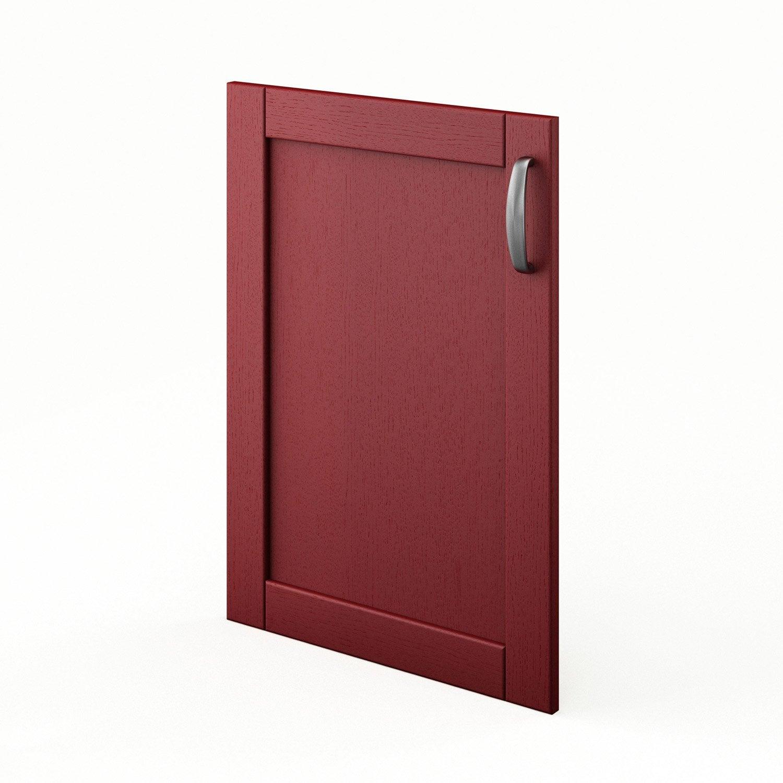 porte de cuisine rouge f50 rubis l50 x h70 cm leroy merlin. Black Bedroom Furniture Sets. Home Design Ideas