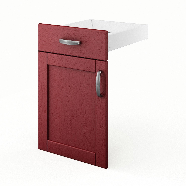 Porte et tiroir de cuisine rouge rubis x x for Porte 70 cm de large