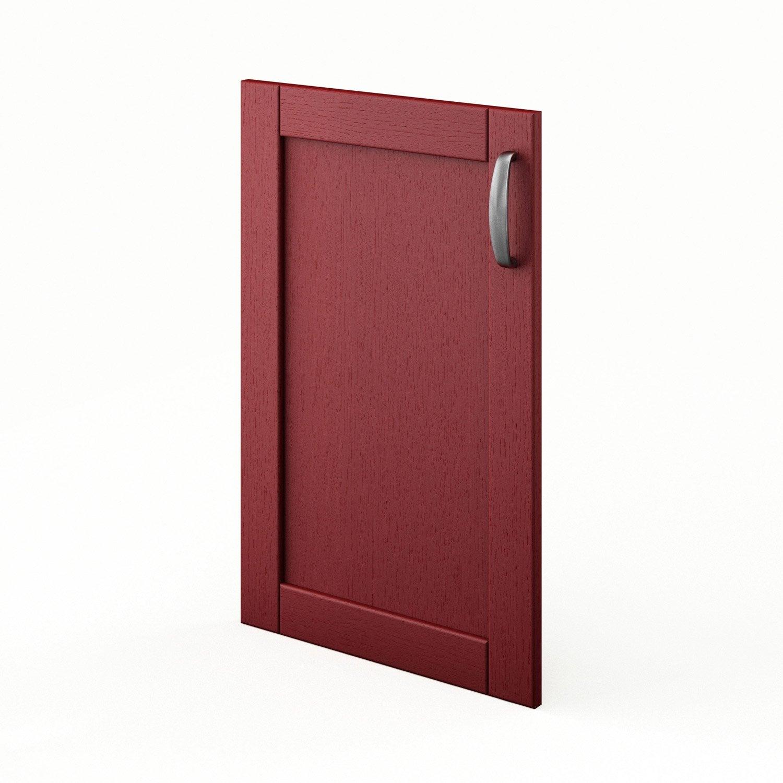 Porte de cuisine rouge f45 rubis l45 x h70 cm leroy merlin - Leroy merlin porte cuisine ...