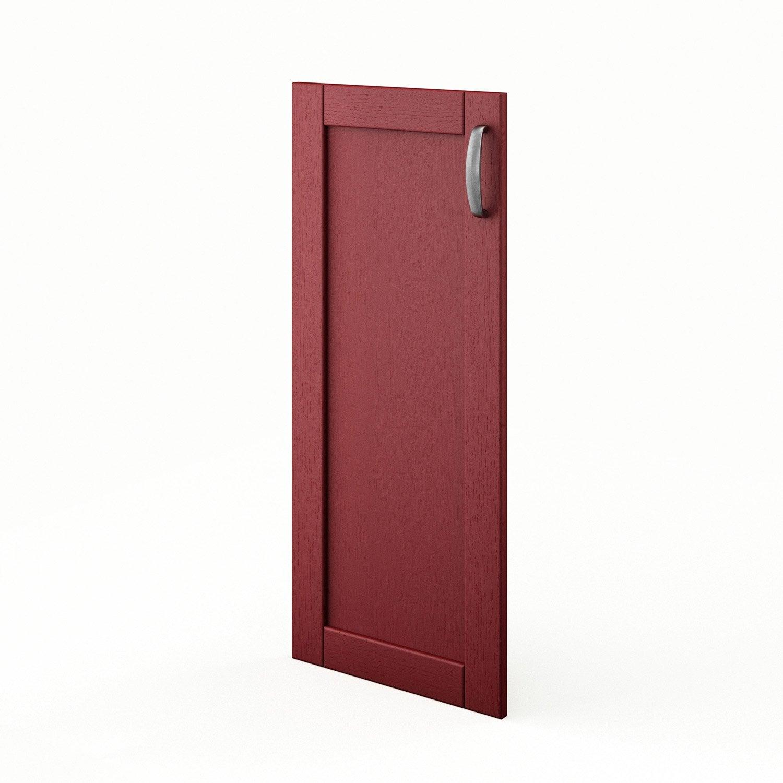 porte de cuisine rouge rubis x cm leroy merlin. Black Bedroom Furniture Sets. Home Design Ideas