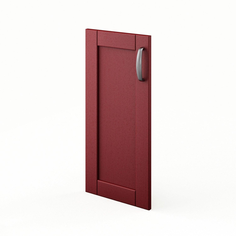 Porte pour angle de cuisine rouge rubis x cm for Porte 70 cm de large