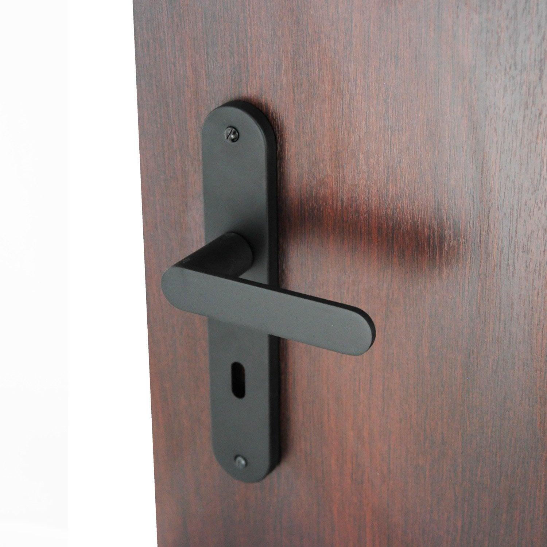 2 poign es de porte meudon trou de cl aluminium 195 mm leroy merlin. Black Bedroom Furniture Sets. Home Design Ideas