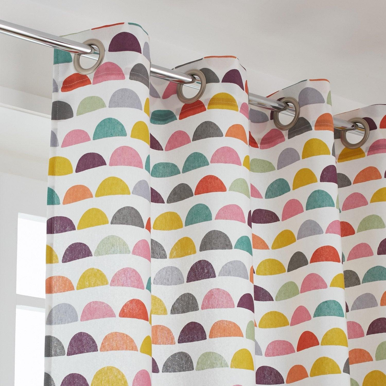 rideau tamisant galleta multicouleur x cm leroy merlin. Black Bedroom Furniture Sets. Home Design Ideas