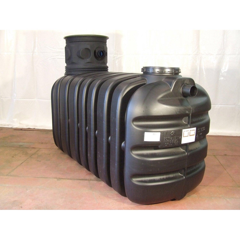 Cuve r cup ration eau de pluie enterr e 3500l noire for Cuve fioul dans garage