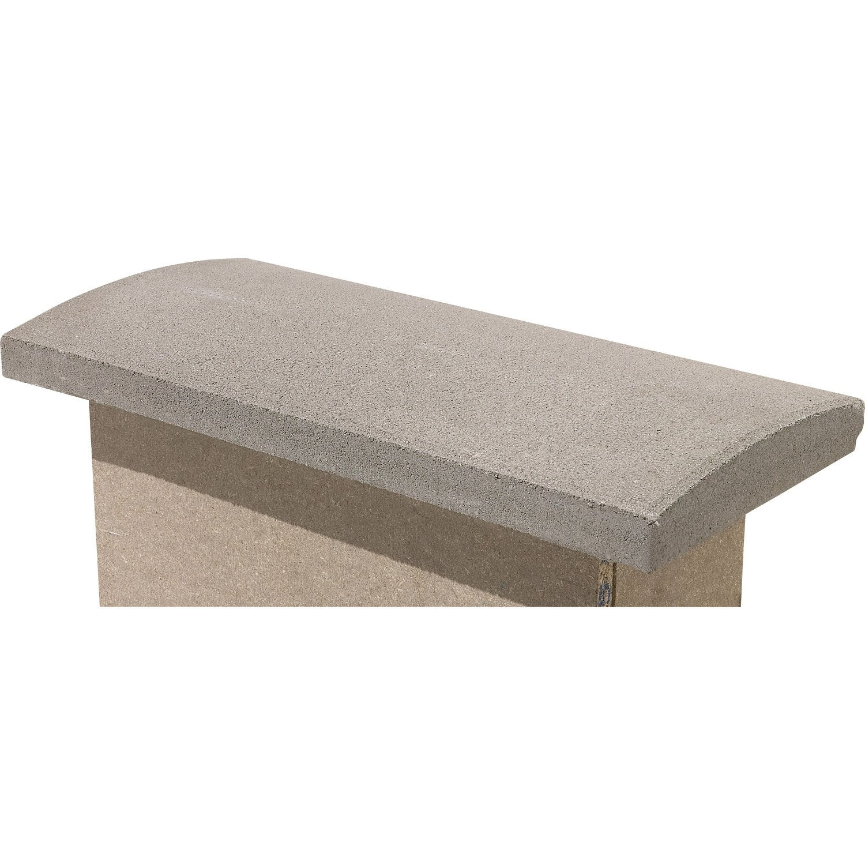 Couvre mur arrondi en b ton h 5 x x cm leroy - Livraison beton leroy merlin ...