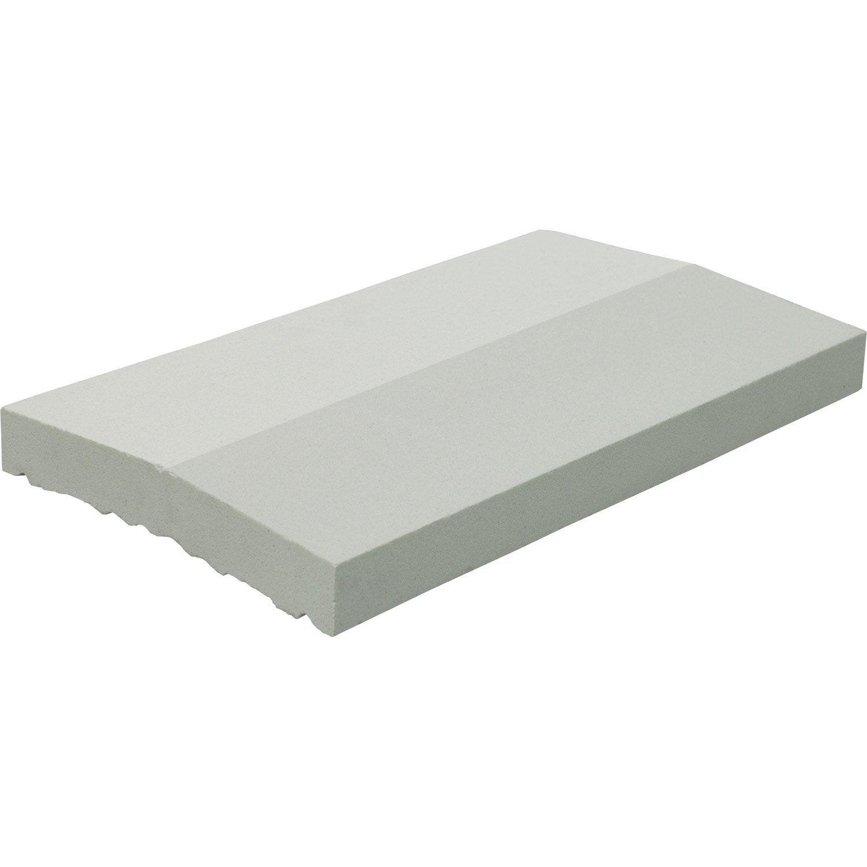 Couvre mur 2 pans en pierre reconstitu e coloris blanc 4x49x28 cm leroy m - Couvre mur leroy merlin ...