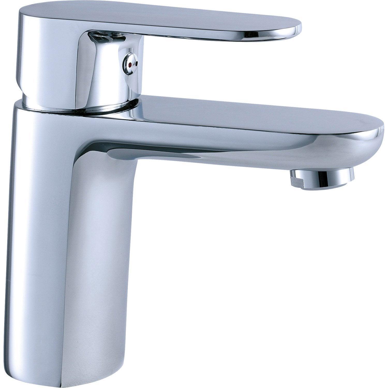 Mitigeur de lavabo bec moyen sensea laly chrom leroy for Lavabo exterieur jardin