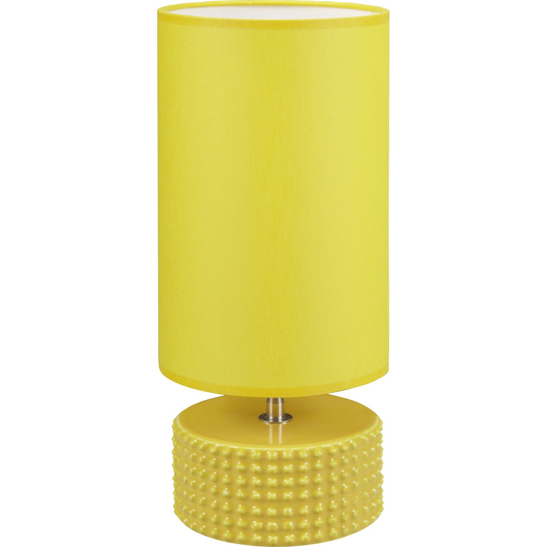 lampe katus coton jaune 60 w leroy merlin. Black Bedroom Furniture Sets. Home Design Ideas