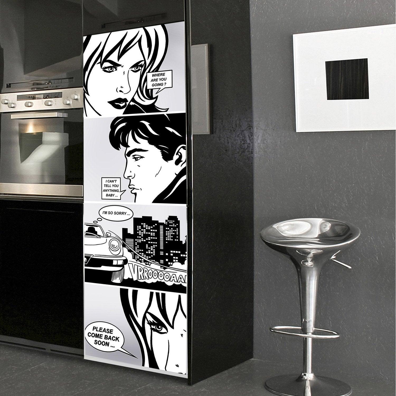 sticker r frig rateur bande dessin e 59 5 cm x 180 cm leroy merlin. Black Bedroom Furniture Sets. Home Design Ideas