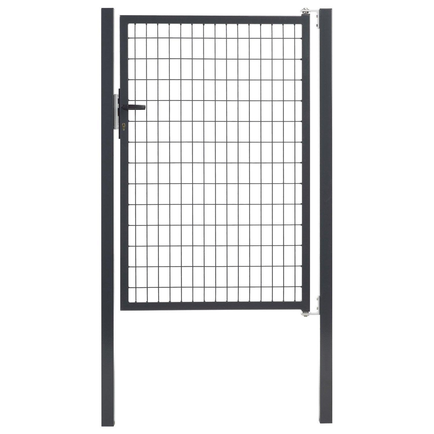 Portillon gris anthracite h 1 5 x l 1 m maille x l for Portillon gris anthracite