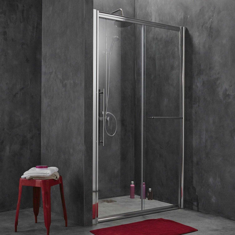 Porte de douche coulissante breuer palerme verre de - Leroy merlin porte en verre ...