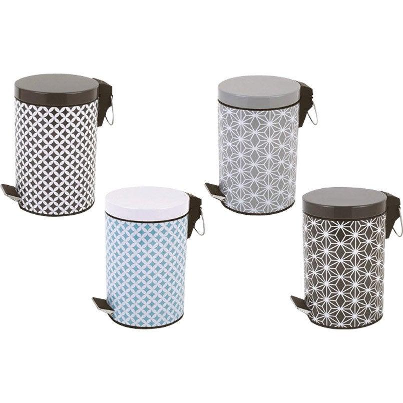 poubelle de salle de bains 3l boheme leroy merlin. Black Bedroom Furniture Sets. Home Design Ideas