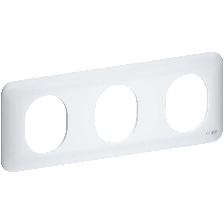 plaque triple schneider electric blanc leroy merlin. Black Bedroom Furniture Sets. Home Design Ideas