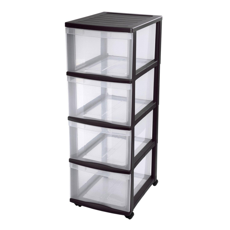 tour de rangement optimo plastique x x cm. Black Bedroom Furniture Sets. Home Design Ideas