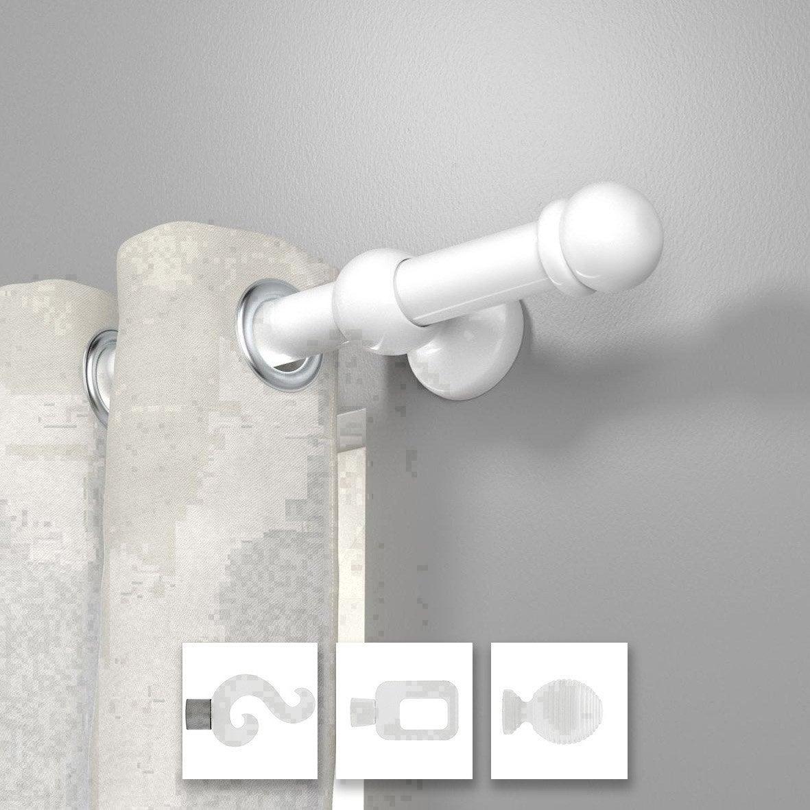 Tringle rideau blanc brillant 150 cm inspire leroy merlin - Leroy merlin tringle a rideau ...