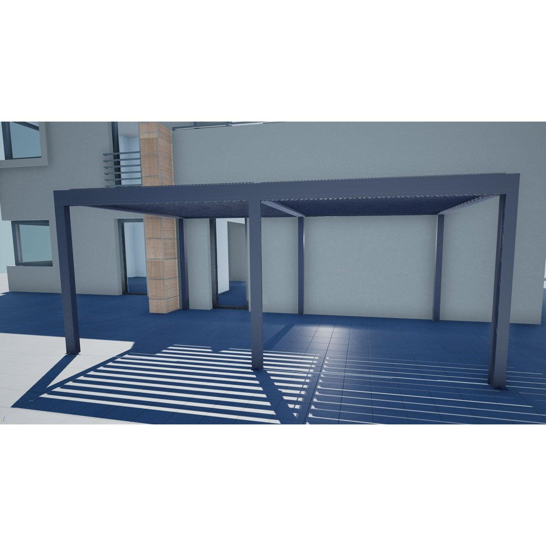 pergola autoportante orient aluminium gris anthracite 18. Black Bedroom Furniture Sets. Home Design Ideas