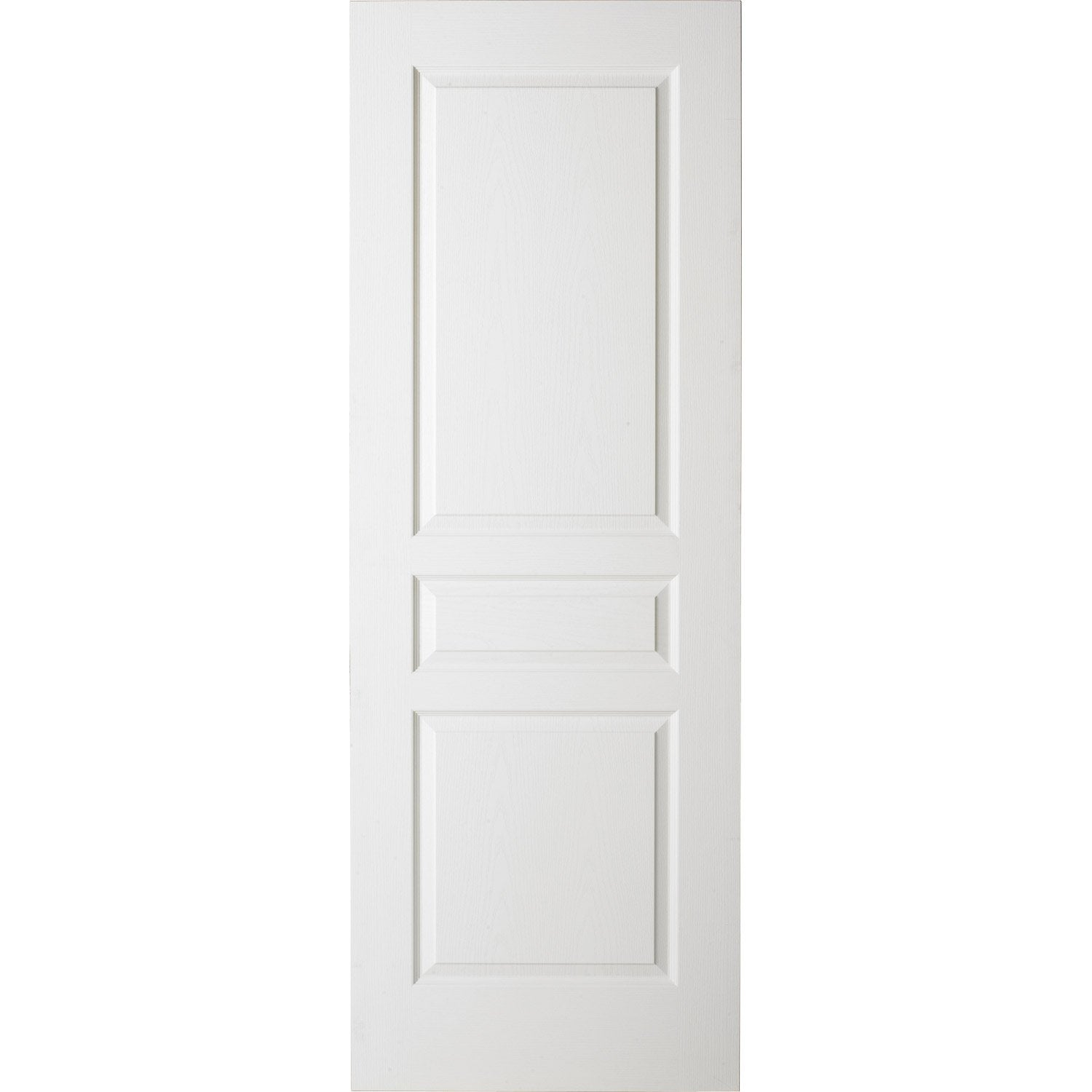 Porte coulissante blanc postform e traverse droite 204 x 93 cm leroy merlin for Porte 93 cm coulissante