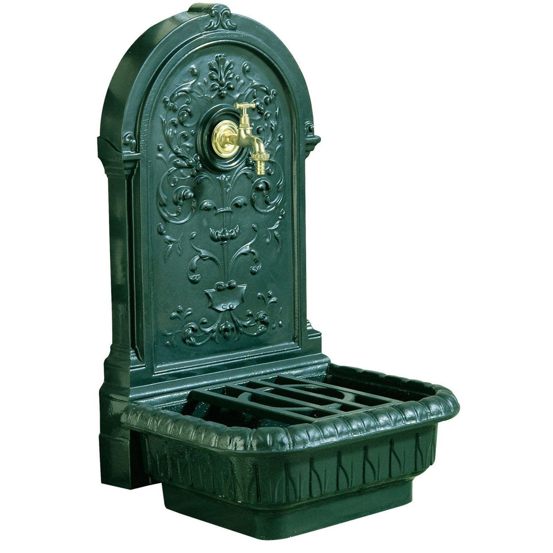 fontaine de jardin en fonte vert renaissance leroy merlin