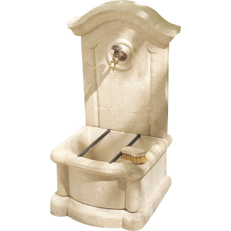 fontaine de jardin en pierre reconstitu e pierre vieillie meridionale leroy merlin. Black Bedroom Furniture Sets. Home Design Ideas