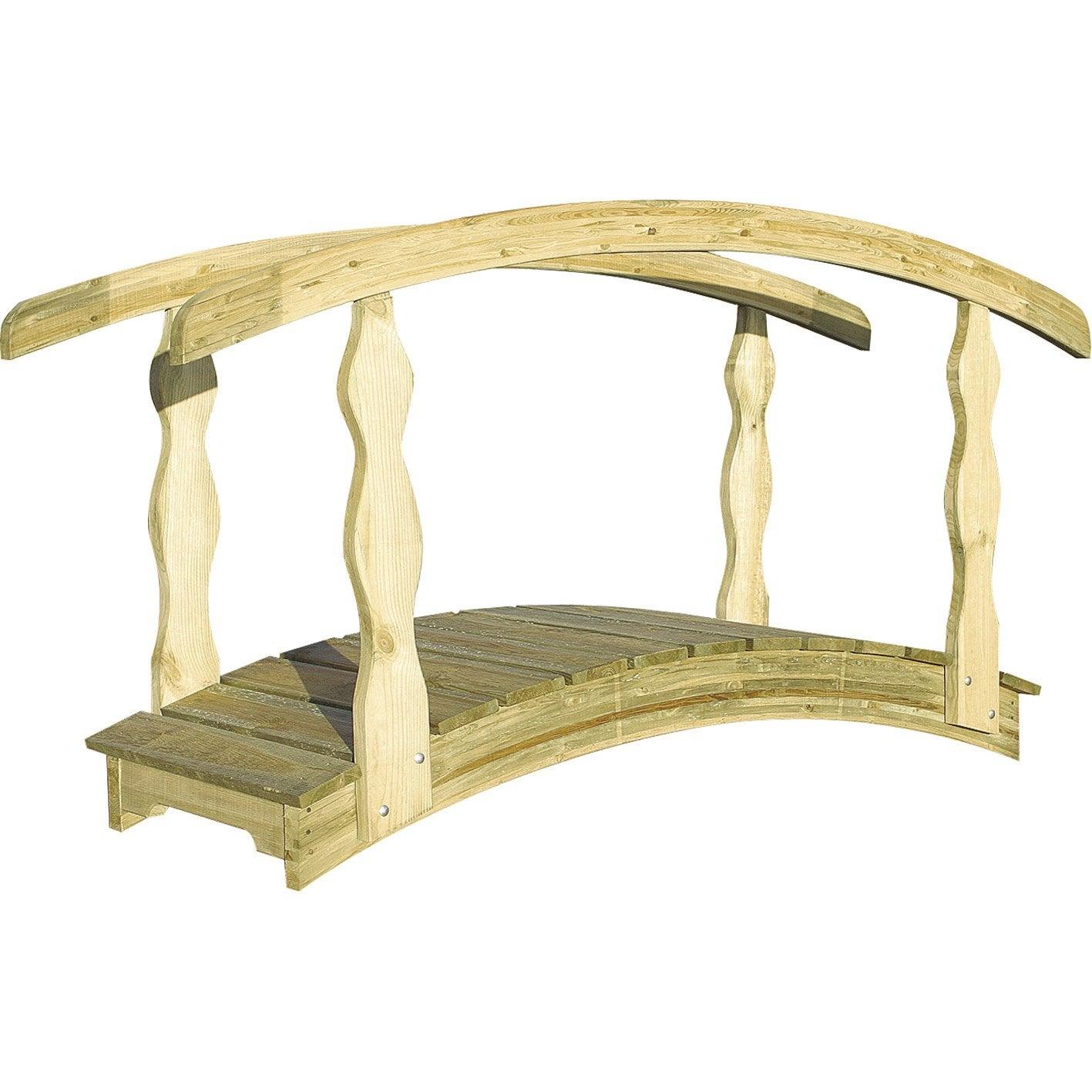 Pont en bois d coratif qu bec burger 180x110cm leroy merlin - Meubilair bassin leroy merlin ...