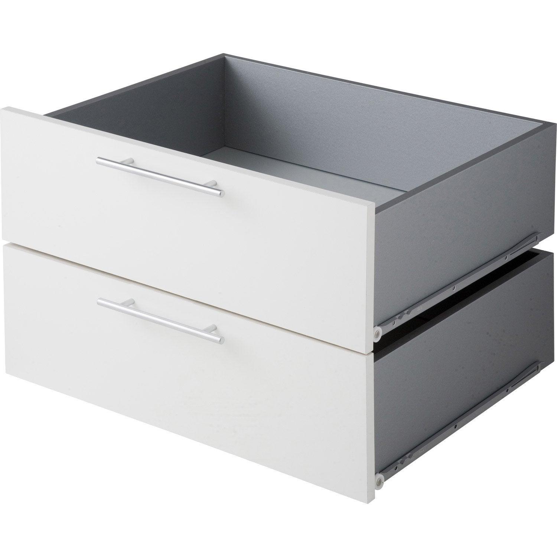 lot de 2 tiroirs pleins spaceo dressing 56x38x45 cm. Black Bedroom Furniture Sets. Home Design Ideas