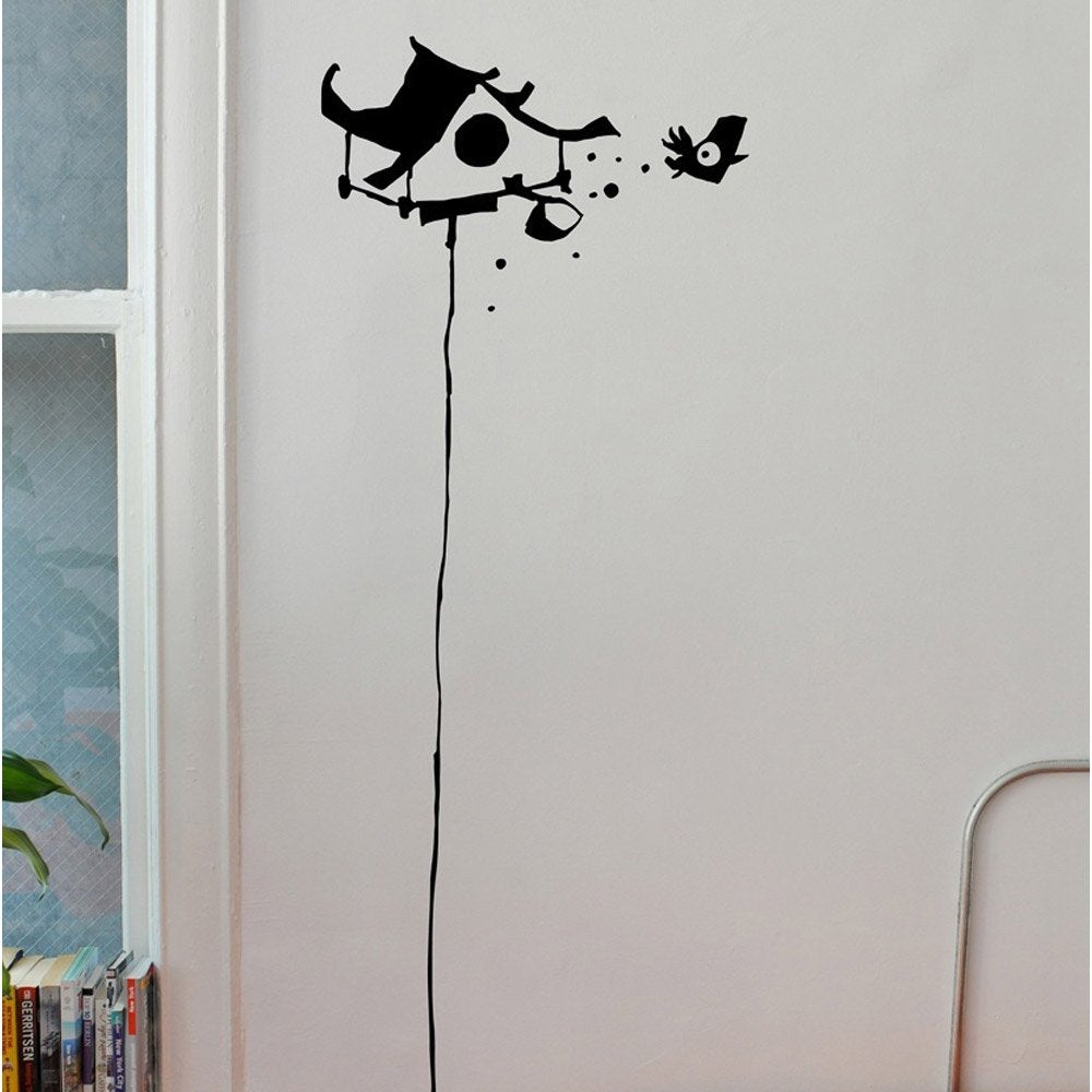 sticker haut perch 20 cm x 40 cm leroy merlin. Black Bedroom Furniture Sets. Home Design Ideas