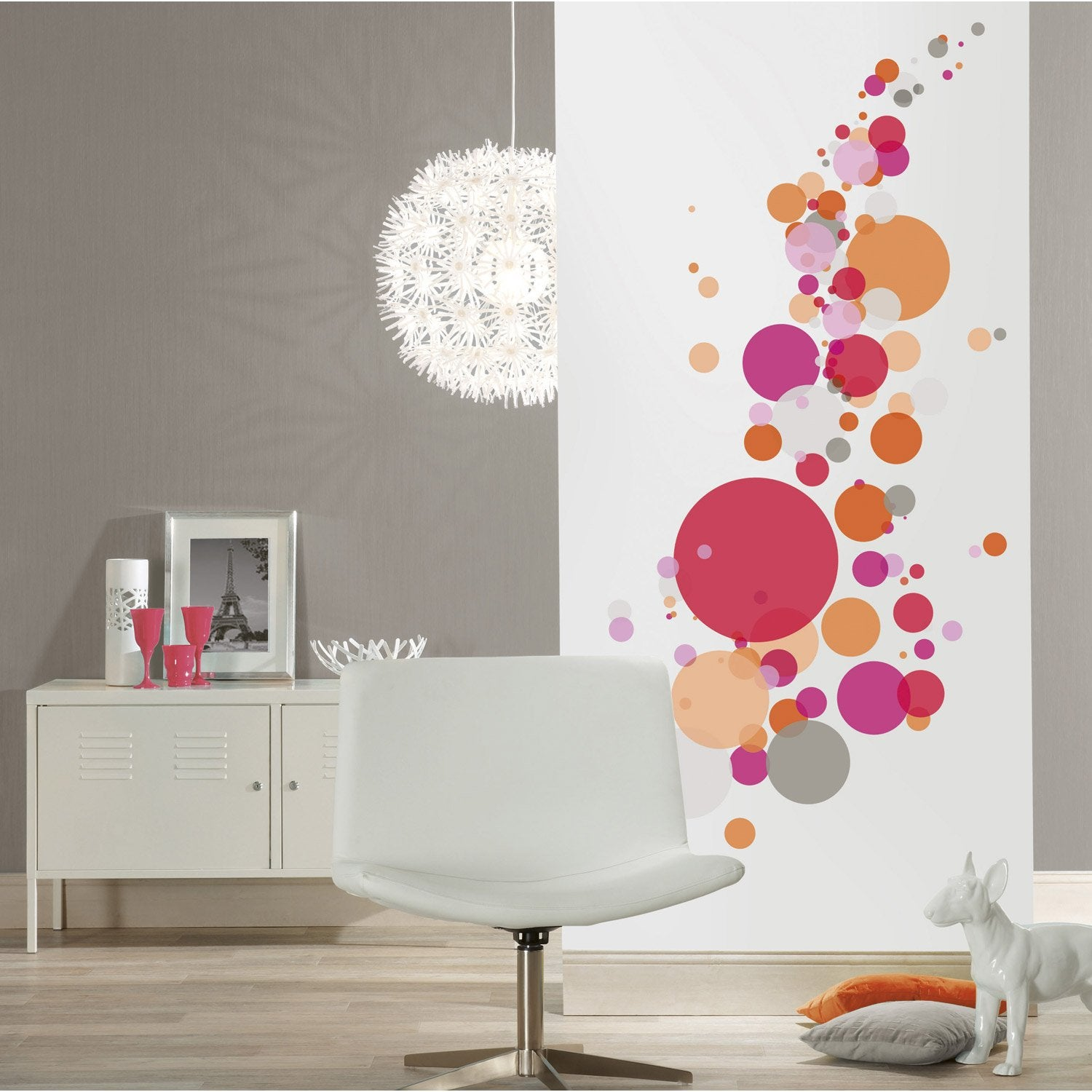 Sticker wizz 47 cm x 67 cm leroy merlin for Decoration porte de chambre