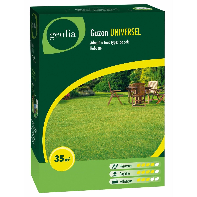 gazon universel geolia 35 m leroy merlin. Black Bedroom Furniture Sets. Home Design Ideas