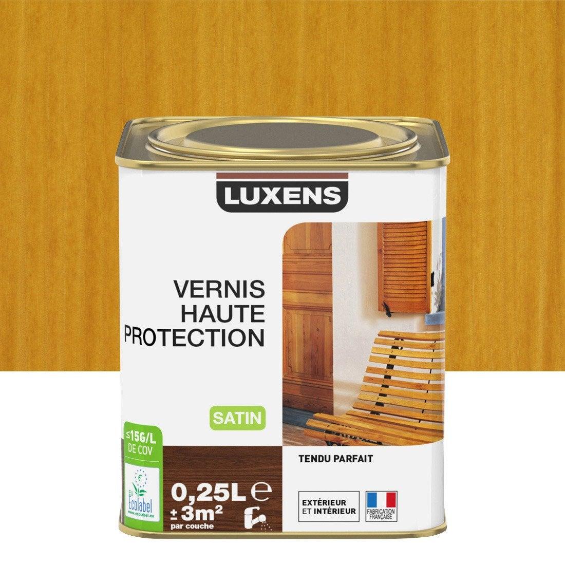 vernis exterieur bois luxens chene clair aspect satin 0 25. Black Bedroom Furniture Sets. Home Design Ideas