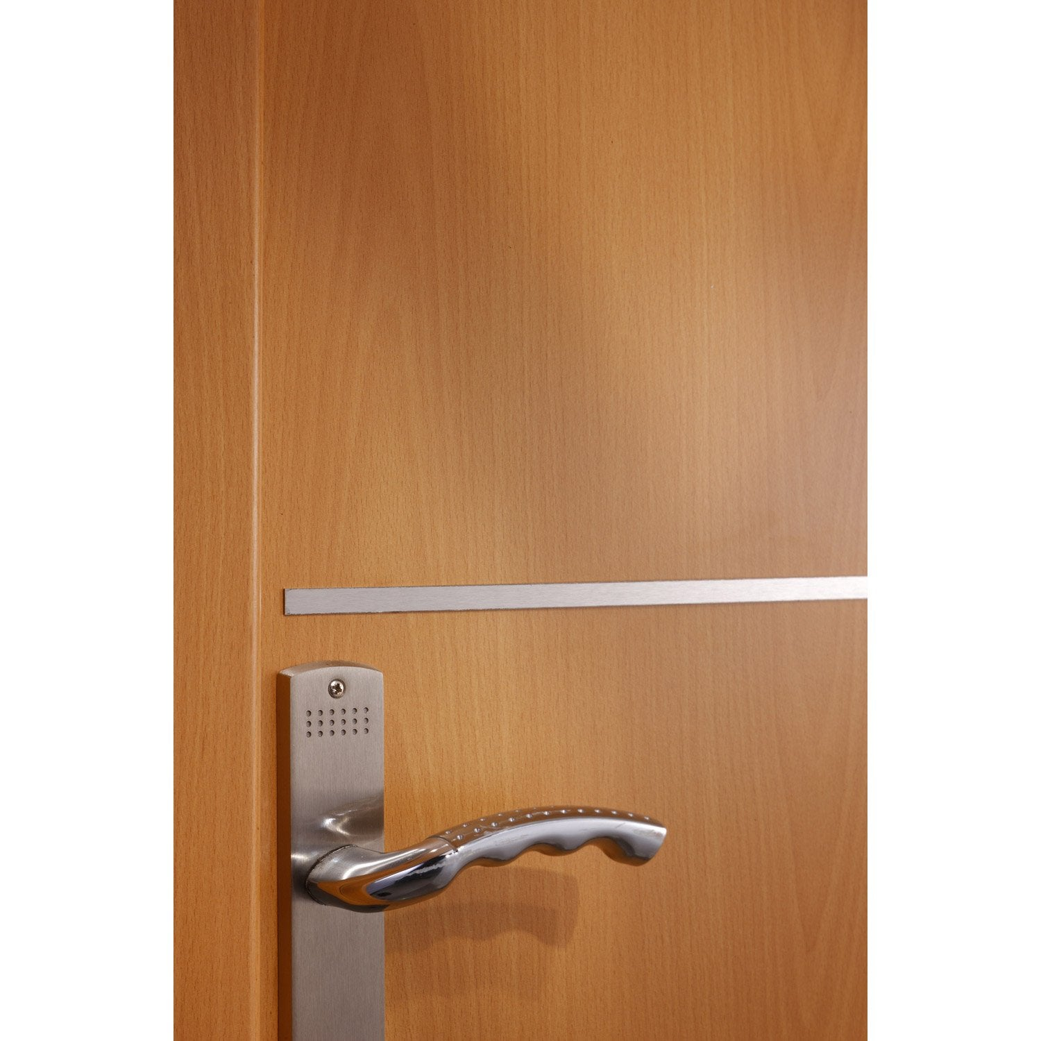 Lot de 4 listels recoupable pour porte de 83 cm inox for Decoration pour porte d interieur