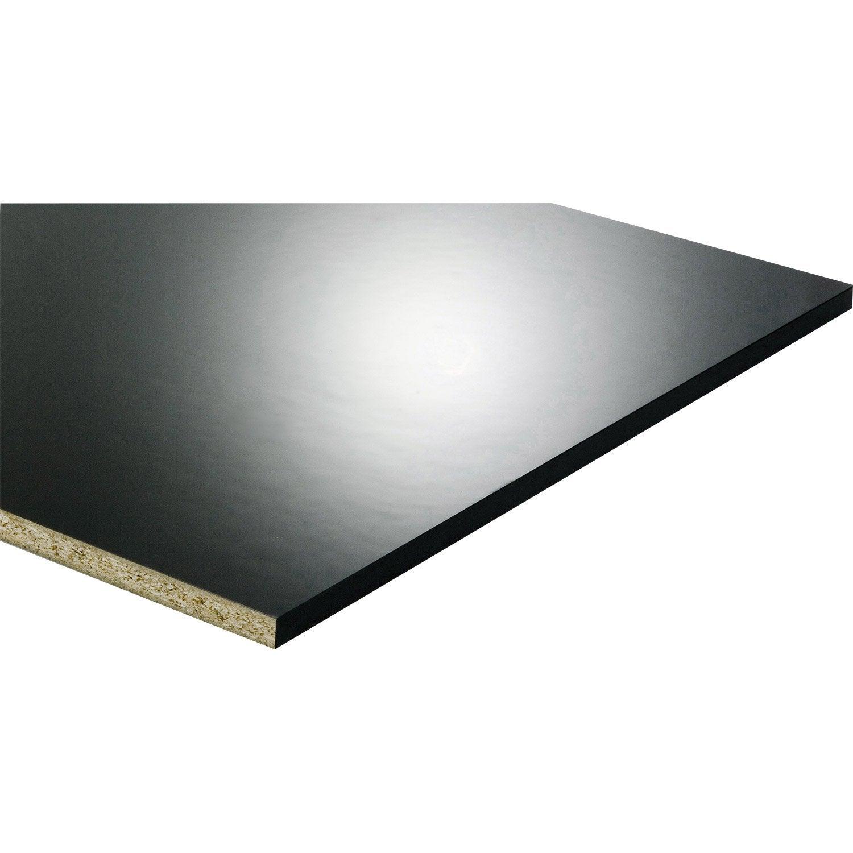 Tablette m lamin glossy noir x cm x mm leroy merlin - Leroy merlin tablette pin ...