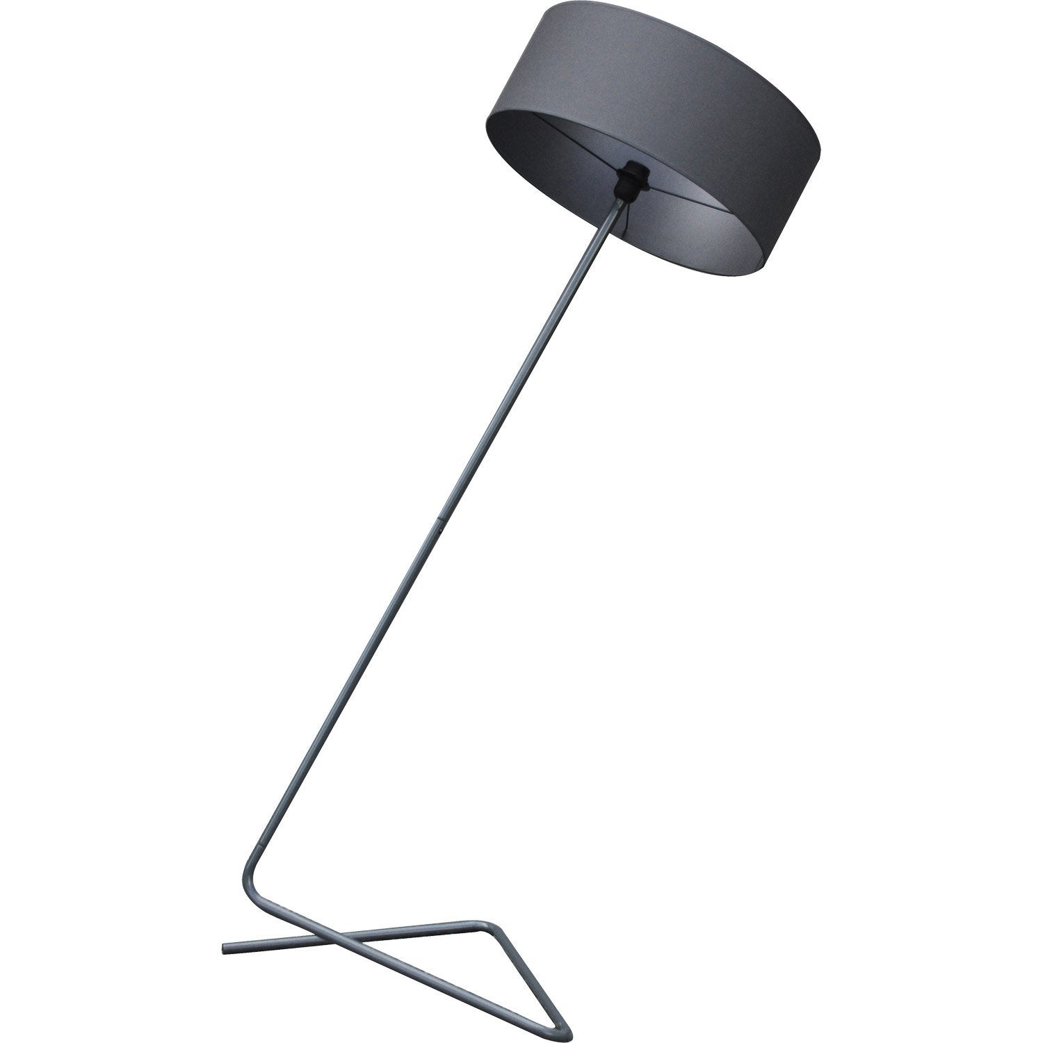 lampadaire duke 159 cm gris 60 w leroy merlin. Black Bedroom Furniture Sets. Home Design Ideas