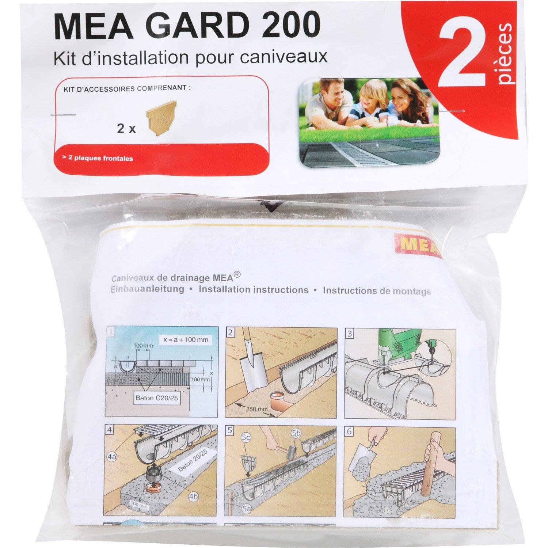 Kit d 39 installation pvc pour caniveau 0 3 m leroy merlin for Pose d un caniveau