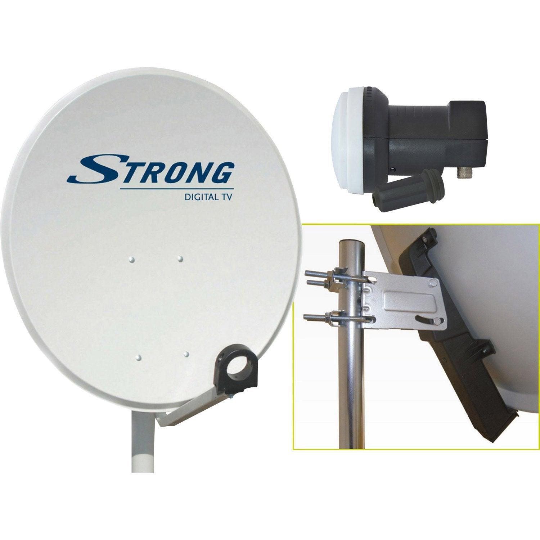 antenne satellite parabolique strong 80 cm leroy merlin. Black Bedroom Furniture Sets. Home Design Ideas