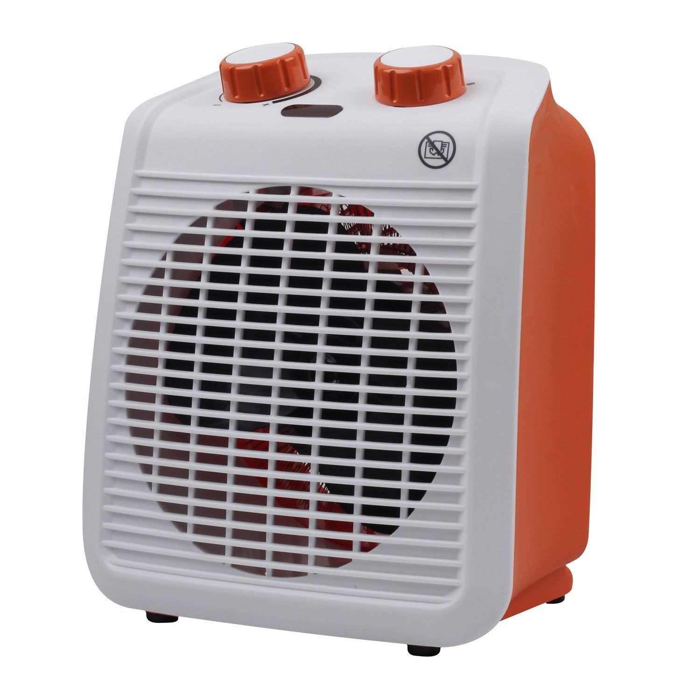 Radiateur soufflant salle de bain mobile lectrique orange for Leroy merlin radiateur salle de bain