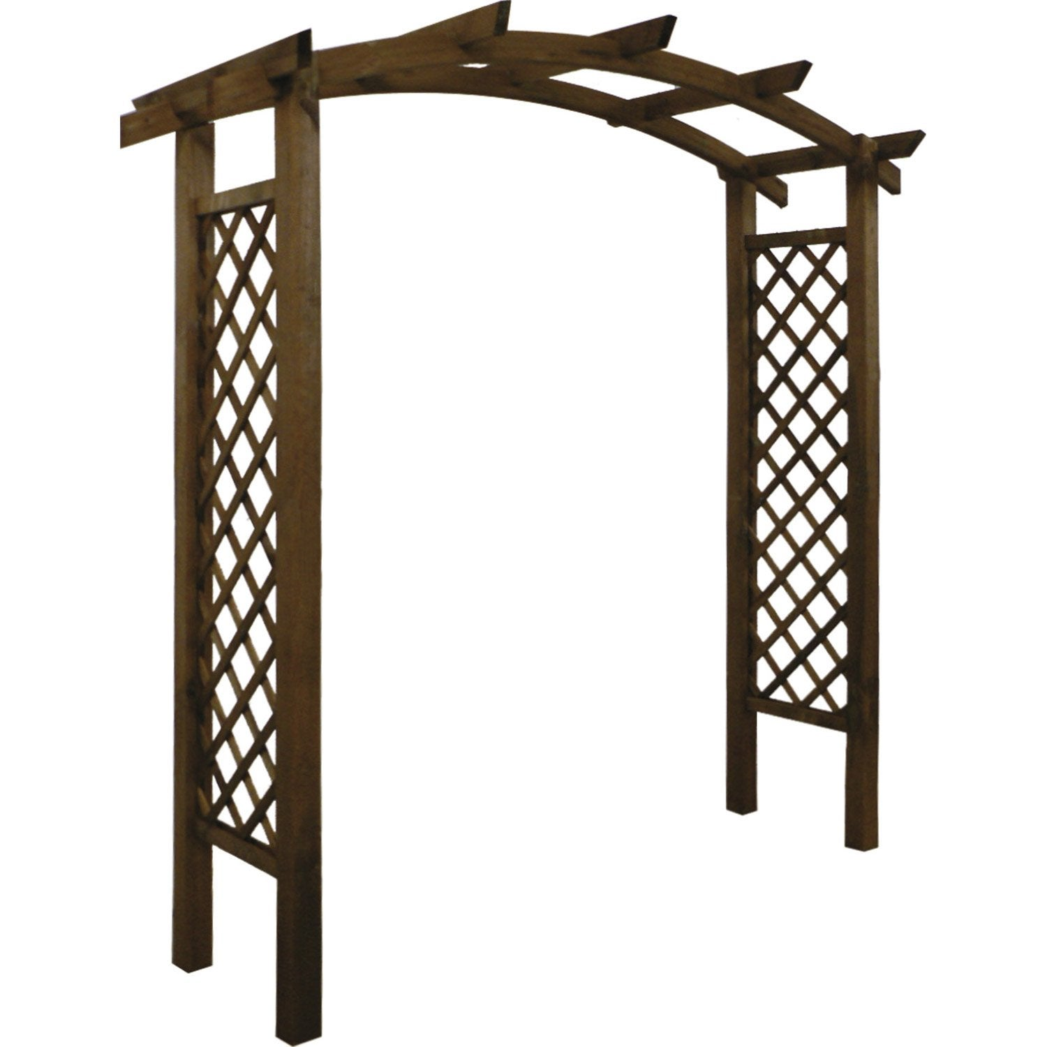 Pergola double burger havane x x cm for Portillon jardin en bois